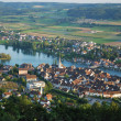 Stein am Rhein from above. - Stock Photo