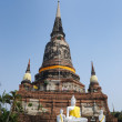 Wat Yai Chai Mongkol (Mongkhon) in Ayutthaya. - Stock Photo