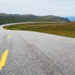 Norwegian road running to the fiord — Stock Photo
