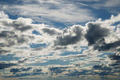 The Finnish sky in summer evening. — Stock Photo