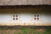 Close-up of ancient Ukrainian hut — Stock Photo