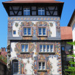 German house with frescos. — Stock Photo