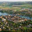 ストック写真: Stein am Rhein from above.