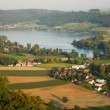 Outskirts of Stein am Rhein from above. - Stock Photo