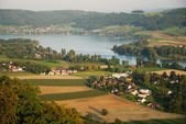 Outskirts of Stein am Rhein from above. — Stock Photo