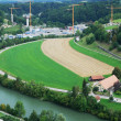 Outskirts of Fribourg from above. — Stock Photo