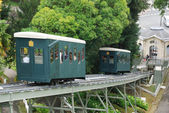 Pau cog railway in the summer park. — Stock Photo