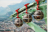 Over the city Grenoble. — Stock Photo
