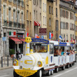 Sightseeing streetcar in Grenoble — Stock Photo