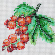 Bead embroidery of red currants - Stock Photo