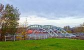 Vodní most přes řeku — Stock fotografie