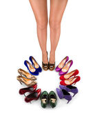Shoes and legs-1 — Stock Photo