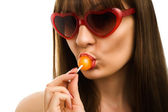 Girl and lollypop-16 — Stock Photo