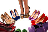 Shoes and legs-6 — Stock Photo