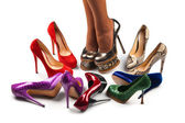 Shoes and legs-9 — Stock Photo
