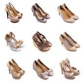 米色棕色鞋-1 一套 — 图库照片