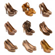 Beige-brown female shoes-2 - Stock Photo