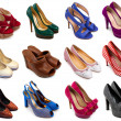 Multicolored female shoes-4 — Stock Photo #10718663