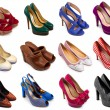 Multicolored female shoes-4 — Stock Photo