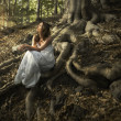 Fairy of the forest - Stok fotoğraf