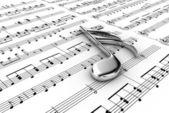 Musiknoteringen — Stockfoto
