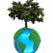 Planet with a tree — Stock Photo #10639075
