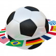 Stock Photo: Football with flags