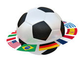 Football with flags — Stock Photo