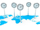 World clocks — Stock Photo