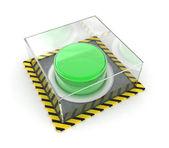 Green button — Stock Photo