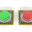Green and red button — Stock Photo
