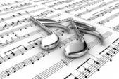 μουσικές νότες — Φωτογραφία Αρχείου