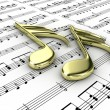 Musical notes — Stock Photo #9977813
