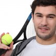 Tennis player on white background — Stock Photo #10000383