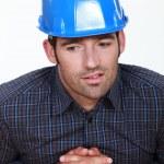 Pensive foreman — Stock Photo