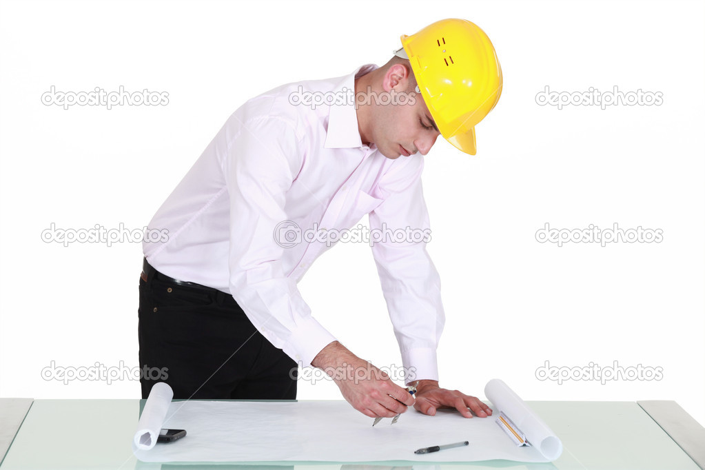 An architect at work stock photo photography33 10001373 for Architect at work