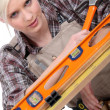 Female woodworker — Stock Photo #10011486