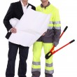 Businessman and foreman — Stock Photo
