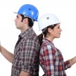 Royalty-Free Stock Photo: Male and female carpenters
