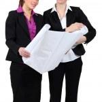 Businesswomen discussing plans — Stock Photo