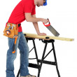 Stock Photo: I'm carpenter