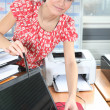 Women manipulating computer in the office — Stock Photo