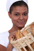 Woman baker — Stock Photo