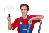 Young male decorator — Foto Stock