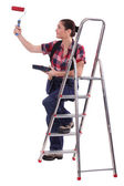 Woman painter — Stock Photo