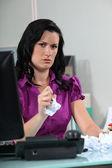 Annoyed employee — Stock Photo