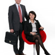 Middle-aged business couple — Stock Photo