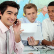 Stock Photo: Businessmen in a training