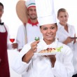 Staff of food and catering sector — Stock Photo