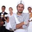 Stock Photo: Working in service sector